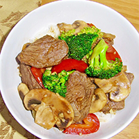 Beef with Garlic Sauce